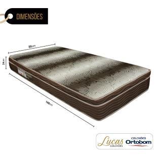 Colchão De Espuma D28 Solteiro - Ortobom - Light Ortopédico - 88x188x24cm