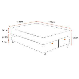 Cama Box Baú Queen Marrom + Colchão de Molas Ensacadas - Plumatex -  Ilhéus 158x198x68cm