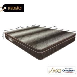 Colchão De Espuma D28 Casal - Ortobom - Light Ortopédico - 138x188x24cm