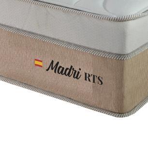 Cama Box Queen Branca + Colchão de Molas Ensacadas - Plumatex - Madri - 158x198x67cm