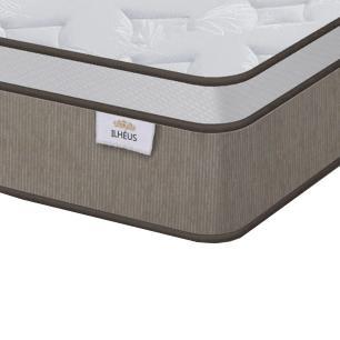 Cama Box Solteiro Marrom + Colchão de Molas Ensacadas - Plumatex - Ilhéus - 88x188x61cm