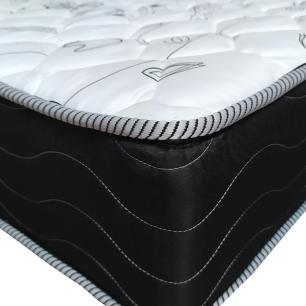 Cama Box King Cinza + Colchão De Molas - Probel - Prodormir Sleep Black 193x203x57cm