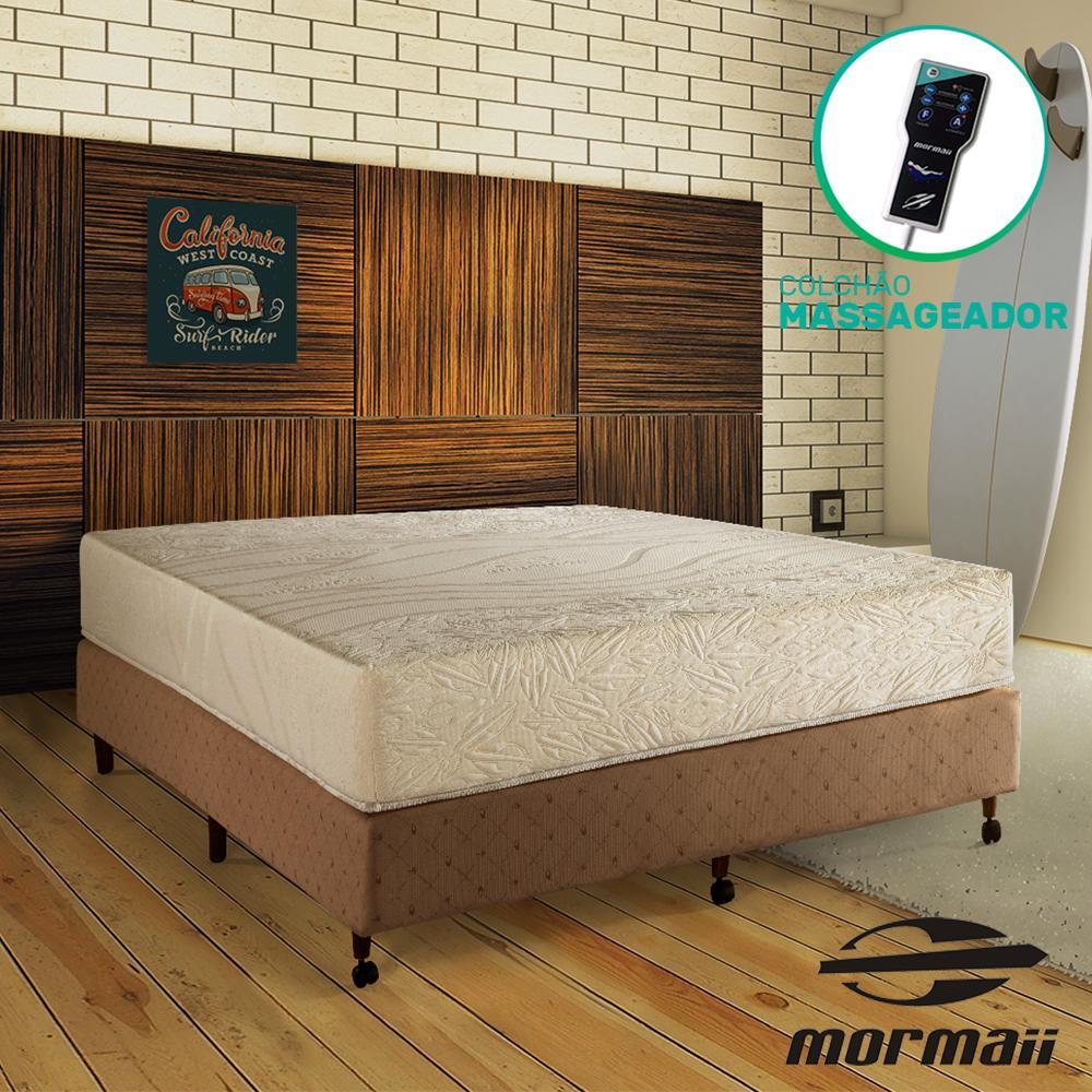 Cama Box Casal Diamonds + Colchão Massageador - Mormaii - Flutuante 138x188x64cm