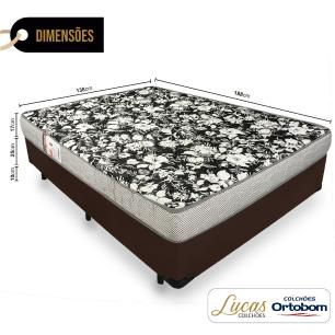 Cama Box Casal + Colchão De Espuma D26 - Ortobom - Physical Ultra Resistente 138x188x52cm