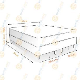 Cama Box King Rústica + Colchão Massageador c/ Infravermelho - Anjos - New King 193x203x67cm