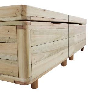 Cama Box com Baú Queen Rústica + Colchão De Molas - Castor - Class Tecnopedic One Face 158x198x67cm