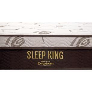 Cama Box King + Colchão De Molas Ensacadas - Ortobom - Sleep King - 193x203x67cm
