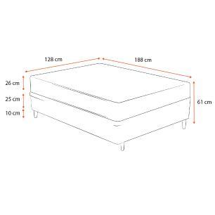 Cama Box Viúva Preta + Colchão Espuma D33 - Lucas Home - Confort D33 128x188x61cm