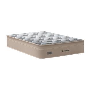 Cama Box Baú Casal Preta + Colchão de Molas Superlastic - Plumatex - Toulouse - 138x188x76cm