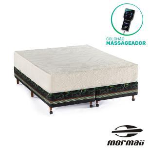 Cama Box Queen Bananal + Colchão Massageador - Mormaii - Flutuante 158x198x64cm