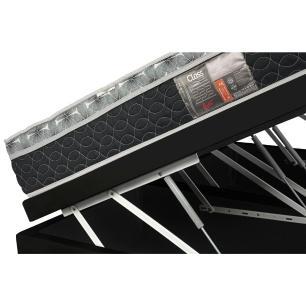 Cama Box Com Baú King + Colchão De Molas - Castor - Class Bonnel One Face 193x203x67cm