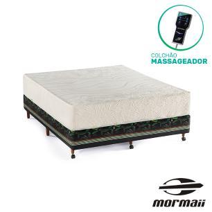 Cama Box Casal Bananal + Colchão Massageador - Mormaii - Flutuante 138x188x64cm