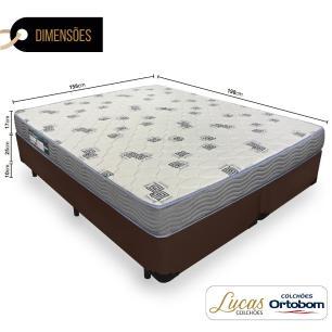 Cama Box Queen + Colchão De Espuma D33 - Ortobom - Light 158x198x52cm