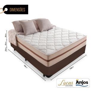 Cama Box Casal + Colchão De Molas Ensacadas - Anjos - Classic - 138X188X61cm