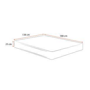 Colchão Molas Ensacadas Casal - Plumatex - Milano - 138x188x25cm