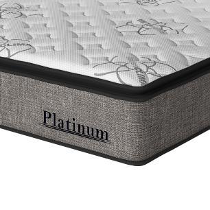 Cama Box Queen Preta + Colchão de Molas Ensacadas - Sealy - Platinum - 158x198x67cm