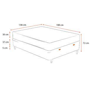 Cama Box Baú Casal Marrom + Colchão de Molas Superlastic - Plumatex - Valencia - 138x188x72cm