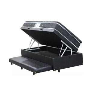 Cama Box Com Baú e Auxiliar Solteiro + Colchão De Molas - Ortobom - Physical Nanolastic 88cm