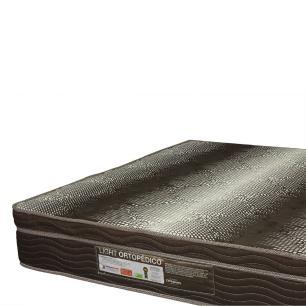 Cama Box Casal + Colchão De Espuma D28 - Ortobom - Light Ortopédico 138x188x67cm