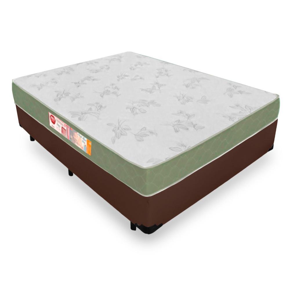 Cama Box Viúva + Colchão De Espuma D33 - Castor - Sleep Max 128x188x53cm