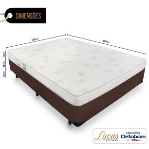 Cama Box Viúva + Colchão De Espuma D23 - Ortobom - Light 128x188x47cm