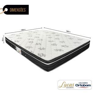 Colchão De Molas Viúva - Ortobom - Physical Nanolastic - 128x188x23cm