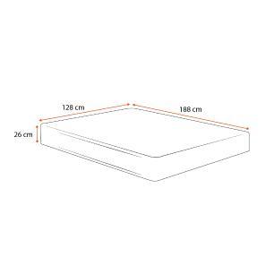 Colchão Espuma D33 Viúva - Lucas Home - Confort D33 - 128x188x26cm