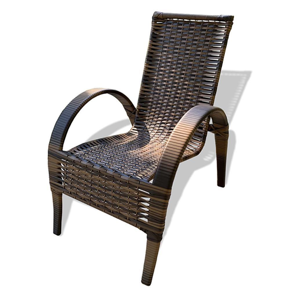 CADEIRA NAPOLY (UNIDADE) - cadeira de jardim para mesa , varanda, área, - Tabaco