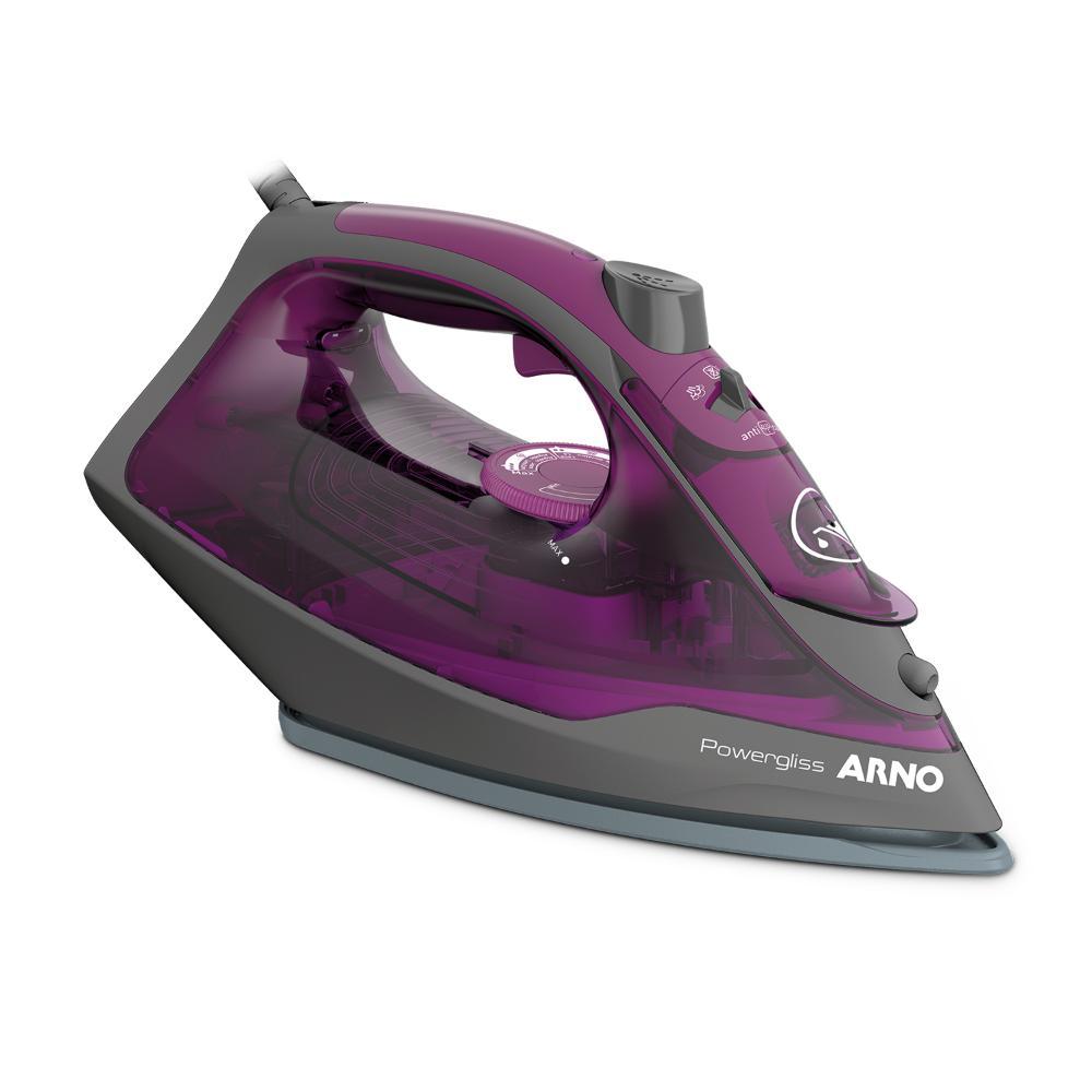 Ferro A Vapor Arno Powergliss Base Xglide Fpo1 Roxo