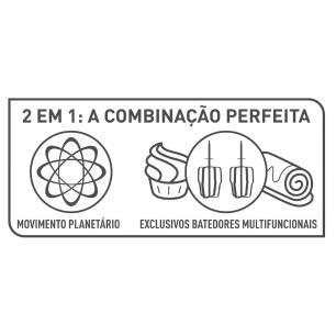Batedeira Planetária Arno Inspirart Preta Km31