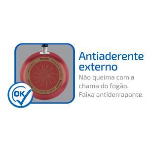 Frigideira Francesa Rochedo Limpa Fácil 20 Cm Vermelho