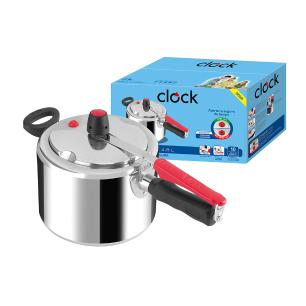Panela De Pressão Clock Original Polida 4,5L