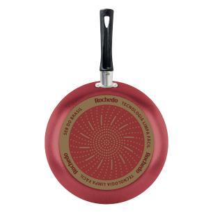 Frigideira Francesa Rochedo Limpa Fácil 24 Cm Vermelho