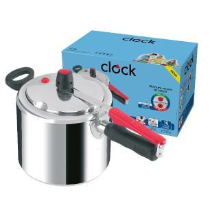 Panela de Pressão Clock 7,0L Polida com Fechamento Interno