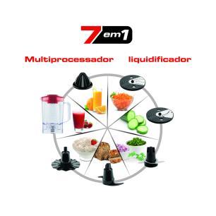 Processador de Alimentos Multichef 7 em 1 MP74