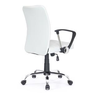 Cadeira de escritório Diretor estofada Dan Healer Branca