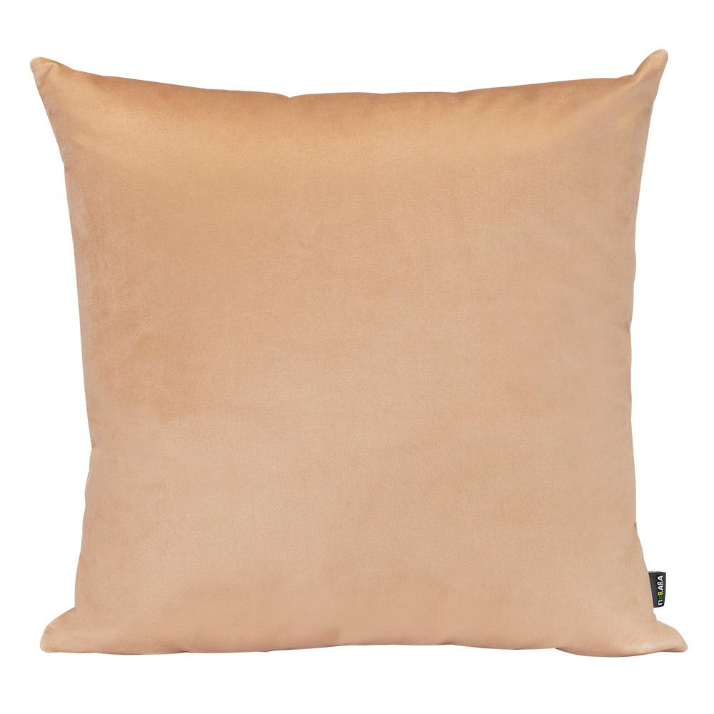 Almofada Decorativa Marrom Claro 45 x 45 Com Enchimento Veludo