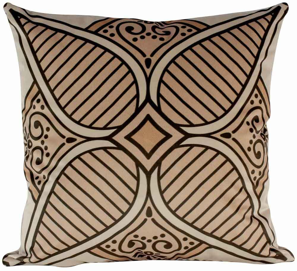 Almofada Arabesco Laranja-50 x 50-Sem Enchimento-Veludo