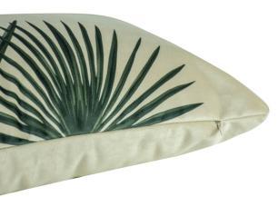 Almofada Floral Verde 60 x 30 Com Enchimento Veludo