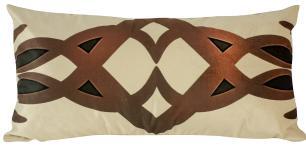 Almofada Arabesco Marrom-60 x 30-Com Enchimento-Veludo