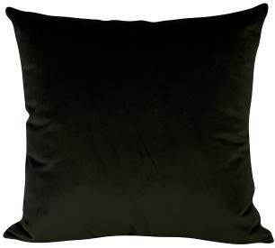 Almofada Preta-45 x 45-Com Enchimento-Veludo