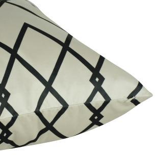 Almofada Geométrica Preta 45 x 45 Com Enchimento Veludo