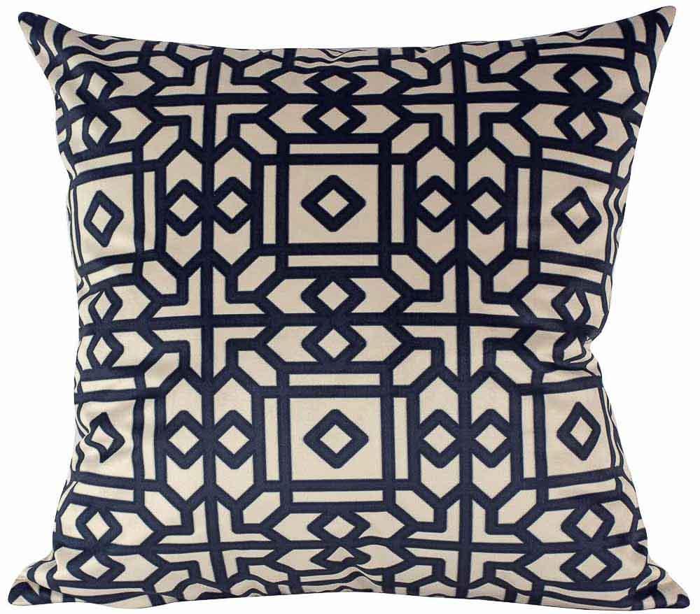 Almofada Arabesco Preto-45 x 45-Com Enchimento-Veludo