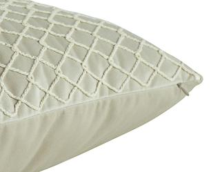 Almofada Bordada Cru-50 x 50-Com Enchimento-Veludo