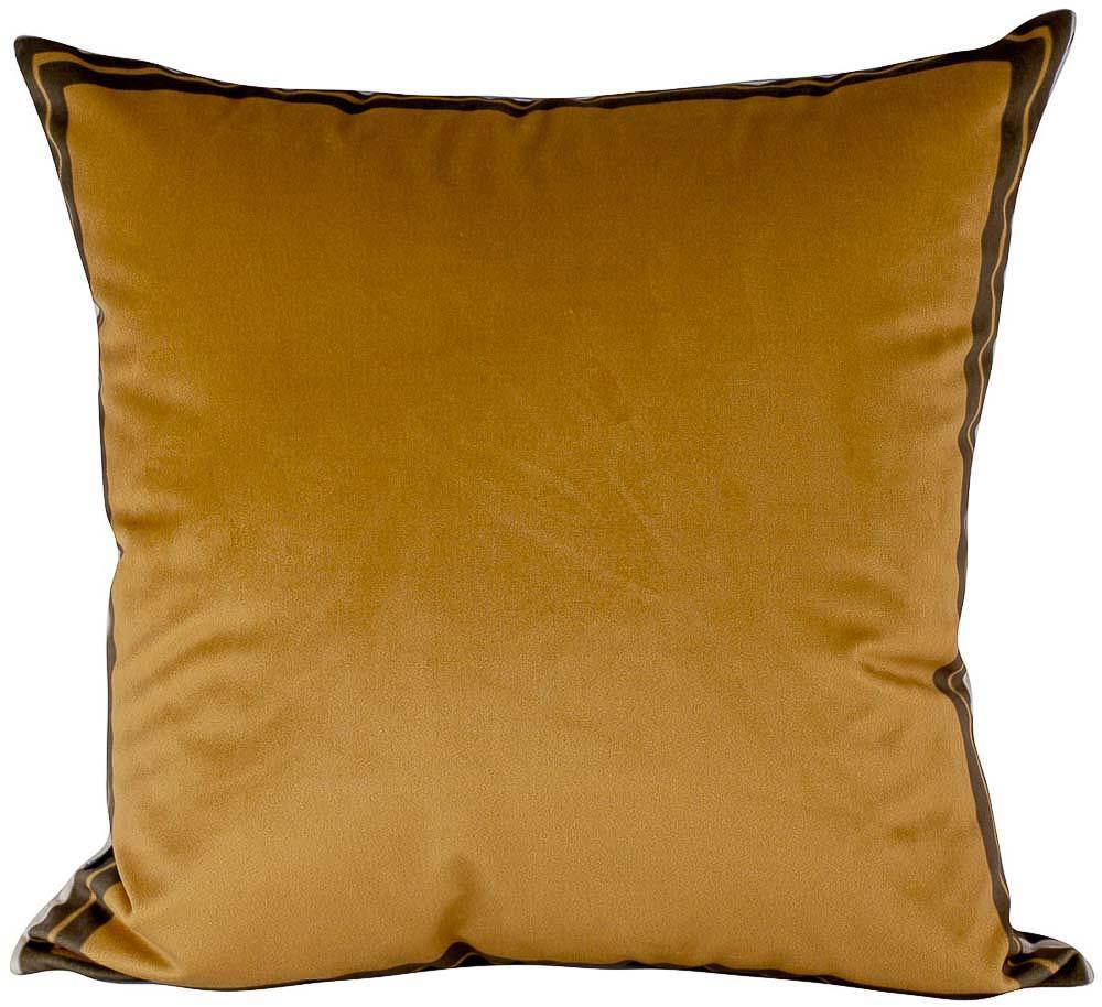 Almofada Decorativa Mostarda-45 x 45-Com Enchimento-Veludo