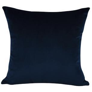 Jogo de Almofadas Arabesco Azul Marinho 50 x 50 Com Enchimento Veludo