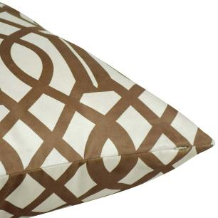 Almofada Decorativa Geométrica Marrom 45 x 45 Com Enchimento Veludo