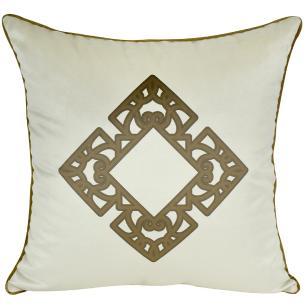 Almofada Decorativa Mandala Marrom 45 x 45 Com Enchimento Veludo