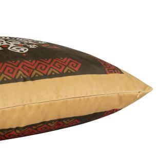 Almofada Decorativa Boho Marrom 50 x 50 Com Enchimento Veludo