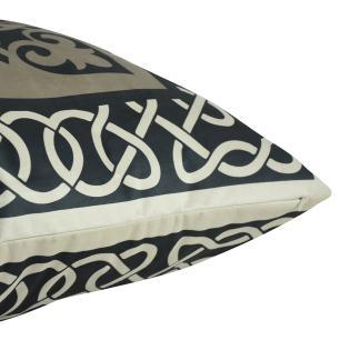 Almofada Arabesco Preta 50 x 50 Com Enchimento Veludo
